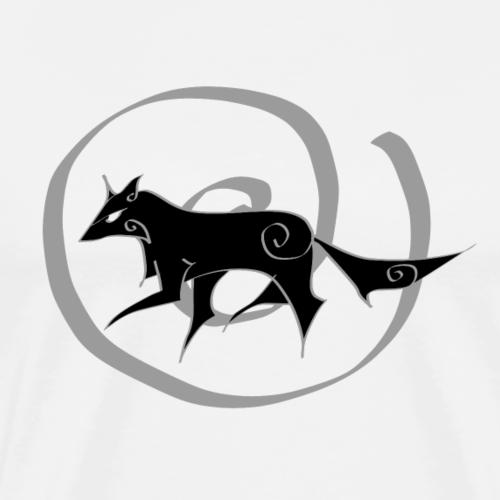 Vortex Wolf - Männer Premium T-Shirt