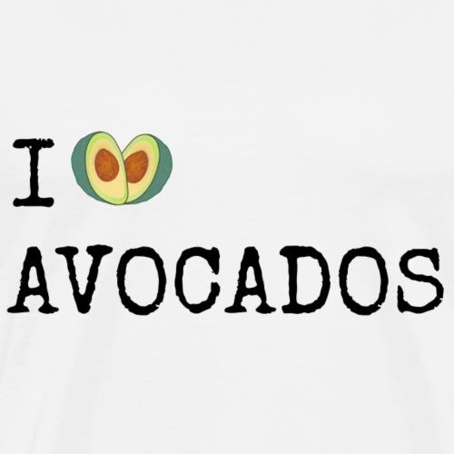 I love avocados - Männer Premium T-Shirt