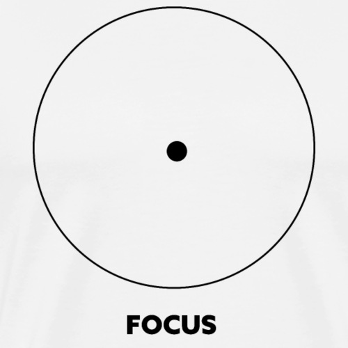 Focus, Zen Design, Meditation - Männer Premium T-Shirt