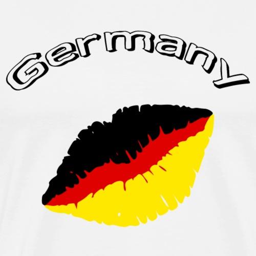 schickes Design Germany mit Lippen - Männer Premium T-Shirt