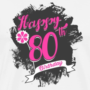 80 Birthday - Congratulations gift - Men's Premium T-Shirt