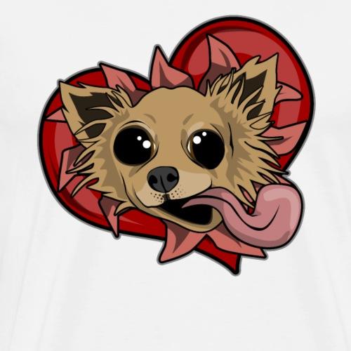 Chihuahua - Herz und Zunge - Männer Premium T-Shirt