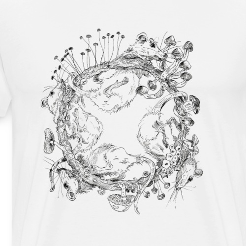 rat race / Rattenrennen / Pilze - Männer Premium T-Shirt