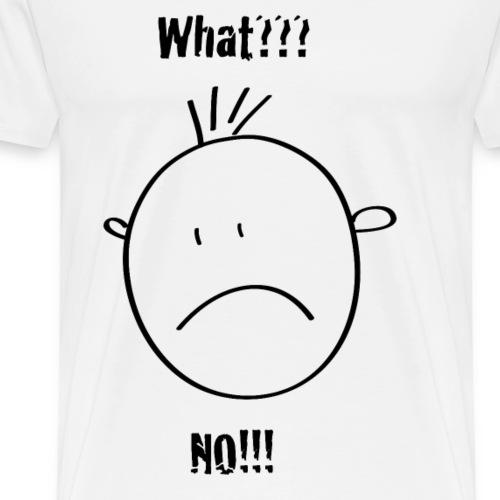 smilie ... what?? no!! - Männer Premium T-Shirt