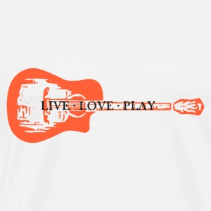 guitar live love play - Men's Premium T-Shirt