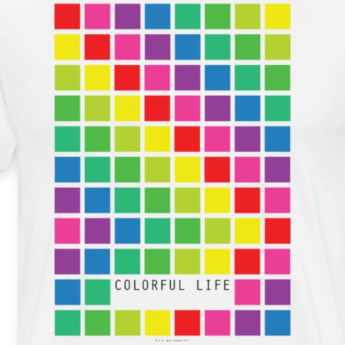 Colorful life - Herre premium T-shirt