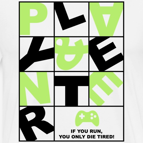 Play and Enter green - Männer Premium T-Shirt