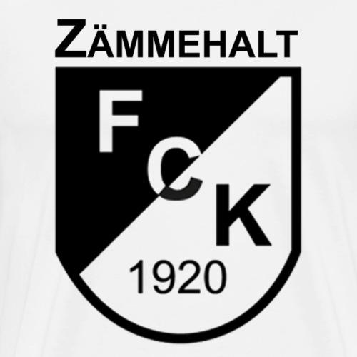 Zämmehalt schwarz - Männer Premium T-Shirt