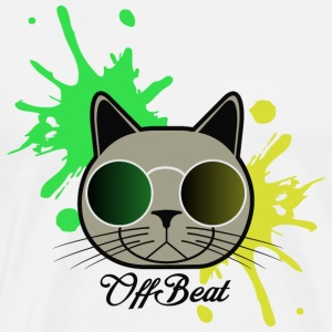 OffBeat Cat - Premium-T-shirt herr