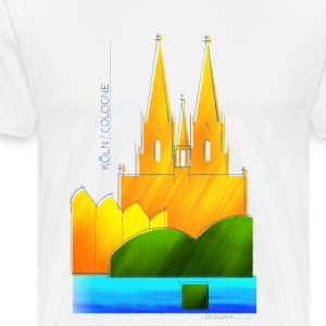 Cologne souvenir motif for light fabrics - Men's Premium T-Shirt