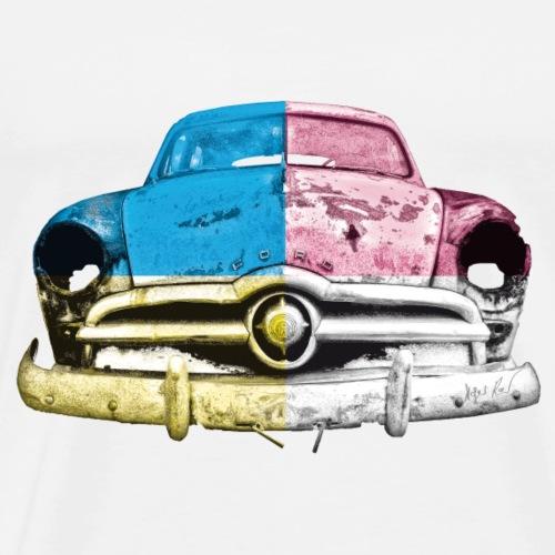 cmyk US Car - Männer Premium T-Shirt