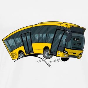 0712 bus geel - Mannen Premium T-shirt