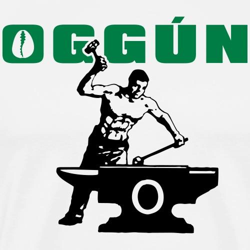 Oggun arere, smid, blacksmith, herrero - Mannen Premium T-shirt