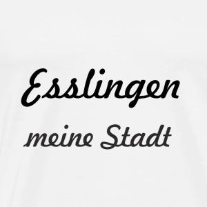 Esslingen meine Stadt schwarz - Männer Premium T-Shirt
