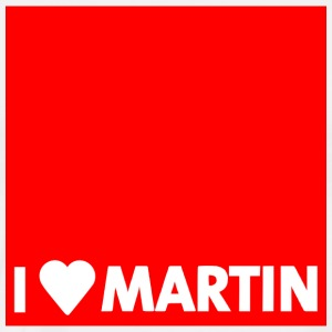 I heart Martin red with edge - Men's Premium T-Shirt