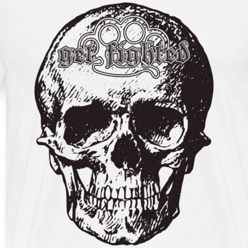 Get Fighted! Skull - Männer Premium T-Shirt