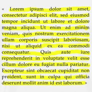 Lorem Ipsum - Maglietta Premium da uomo