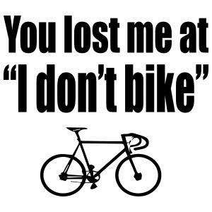I don't bike - Mannen Premium T-shirt