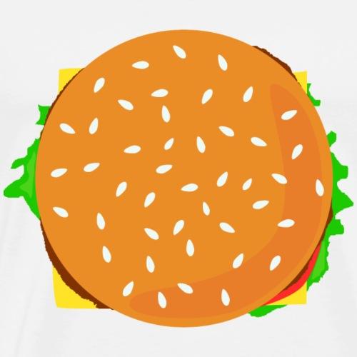 Burger Liebhaber Geschenk Idee - Männer Premium T-Shirt