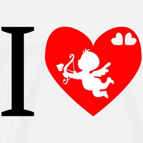 cupidon, I love - T-shirt Premium Homme