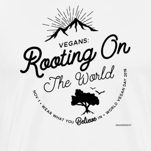 Veganisten: Beworteling On The World - Mannen Premium T-shirt