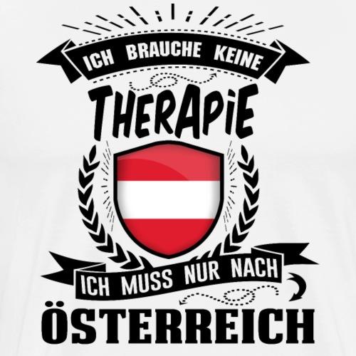 Ich brauche keine Therapie Österreich (black) - Männer Premium T-Shirt