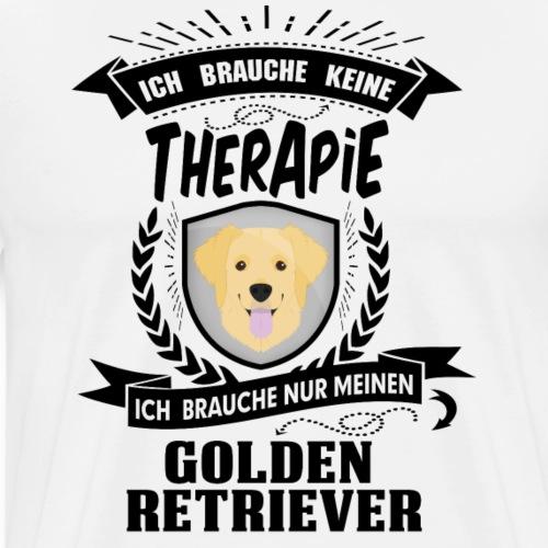 Ich brauche keine Therapie Golden Retriever (blk) - Männer Premium T-Shirt