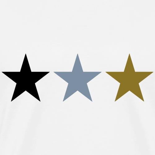 3 étoiles - T-shirt Premium Homme