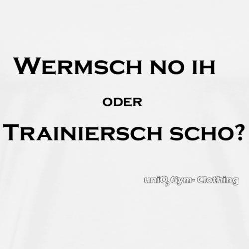 wermsch no ihpng black - Männer Premium T-Shirt
