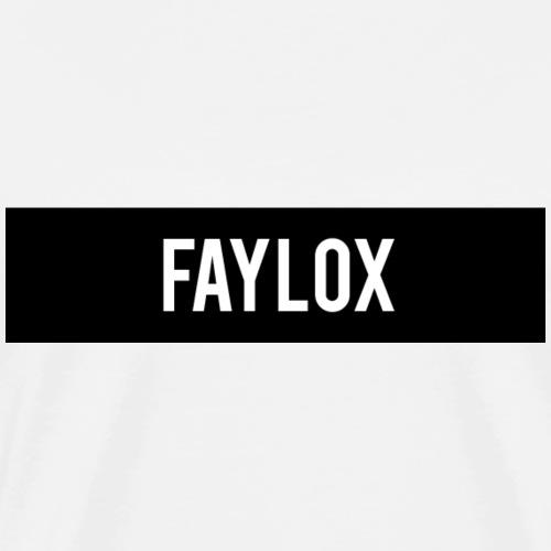 Faylox schwarzer Balken - White Edition - Männer Premium T-Shirt