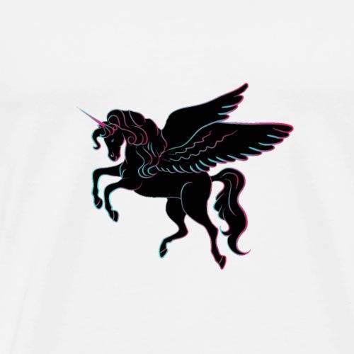 Einhorn mit Flügel - Männer Premium T-Shirt