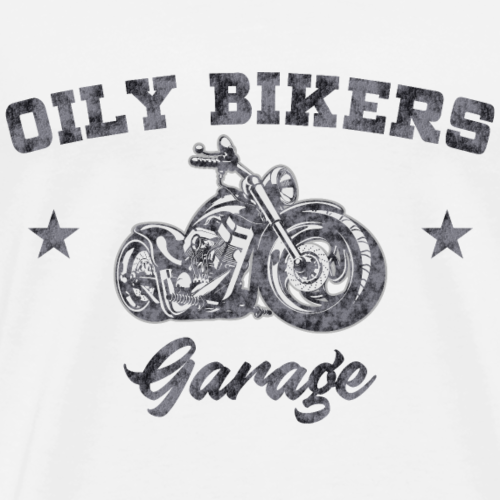 Oily Bikers Garage - Chopper - Men's Premium T-Shirt