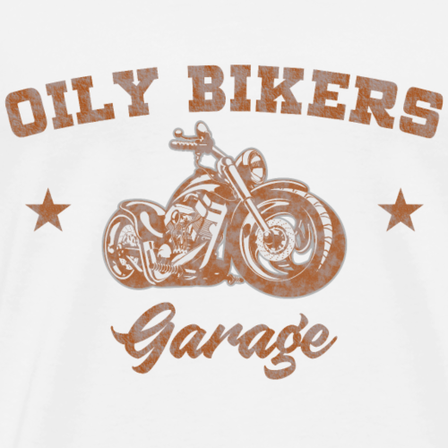 Oily Bikers American Style Garage - Orange - Men's Premium T-Shirt