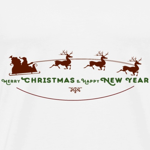 Weihnachtsmann Rentier Schlitten - Men's Premium T-Shirt