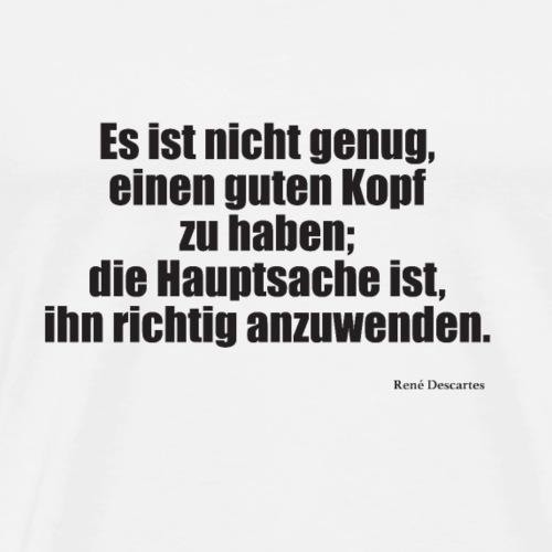 Descartes Kopf - Männer Premium T-Shirt