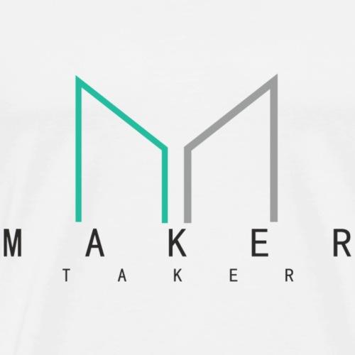 Maker Taker Shirt Crypto Geschenkidee - Männer Premium T-Shirt