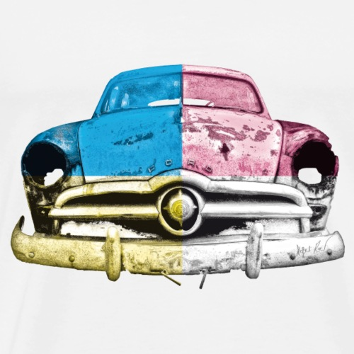cmyk US Car - Männer Premium T-Shirt