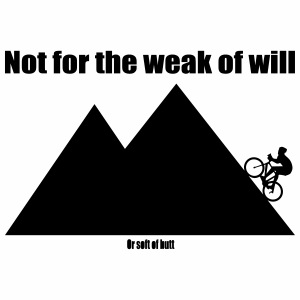 Not for the weak of will - Mannen Premium T-shirt