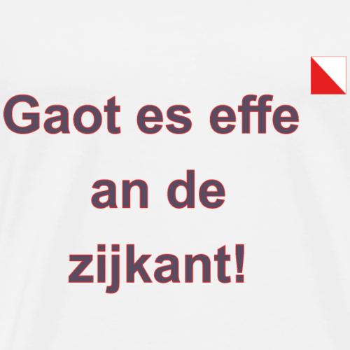 Gaot es effe an de zijkant verti def b - Mannen Premium T-shirt