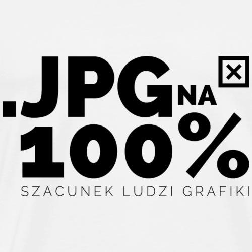 JPG na 100% - czarny napis - Koszulka męska Premium