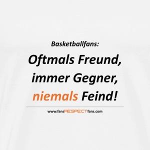 niemals Feind / Schrift schwarz - Männer Premium T-Shirt