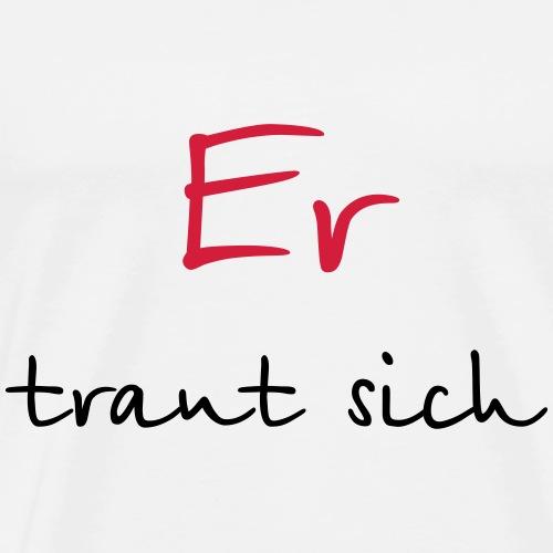 Er traut sich Junggesellenabschied Hochzeit Mut - Männer Premium T-Shirt