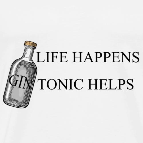 Life happens Gin Tonic Helps - Männer Premium T-Shirt