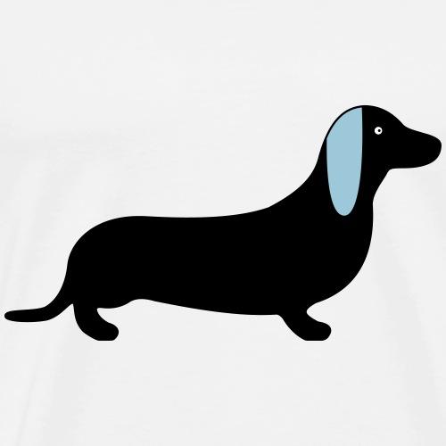 Dackel Hund Geschenkidee - Männer Premium T-Shirt