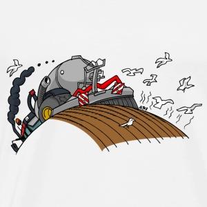 Rode trekker met giertank - Mannen Premium T-shirt