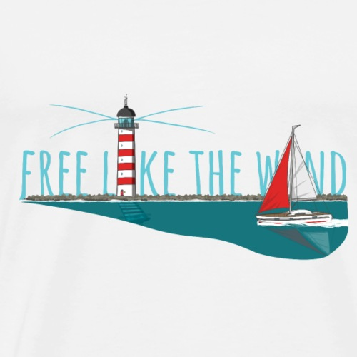 Free like the wind - Männer Premium T-Shirt