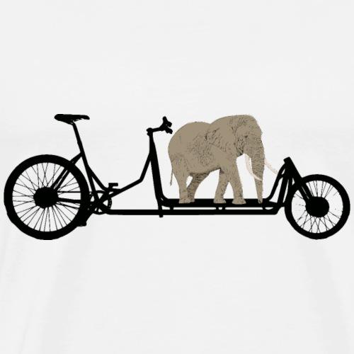 Elefant auf Lastenrad - Männer Premium T-Shirt