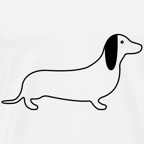 Dackel Hund Grafik Geschenk - Männer Premium T-Shirt