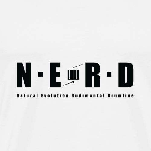 NERD BLACK - Herre premium T-shirt