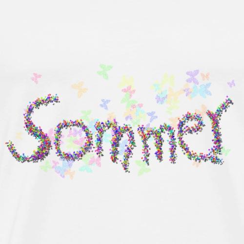 Sommer Schmetterlinge - Männer Premium T-Shirt